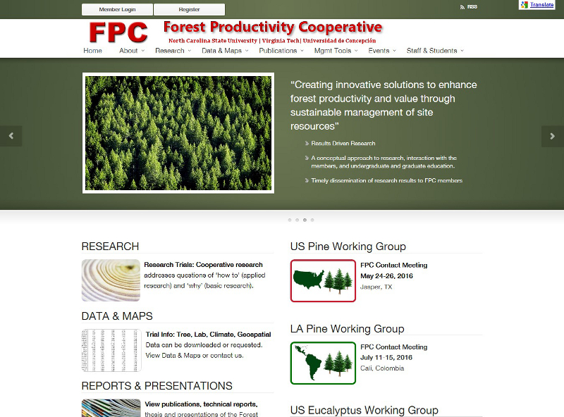 forestproductivity.com website