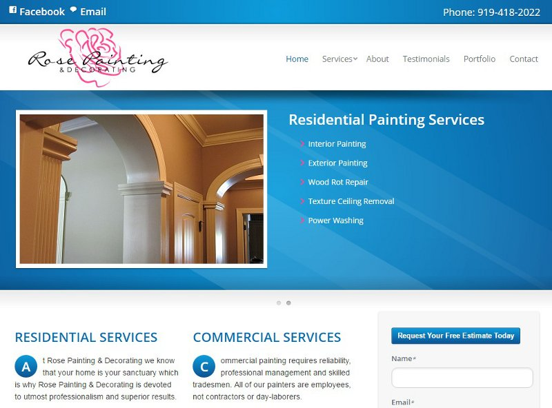rosepaintingnc.com website