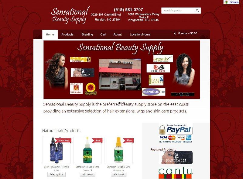 sensationalbeautysupply.com website