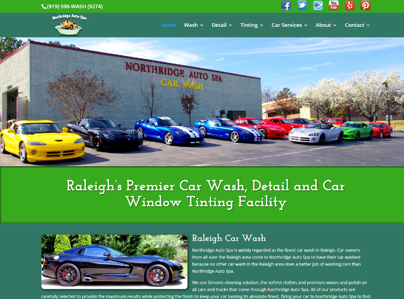 northridgeautospa.com website