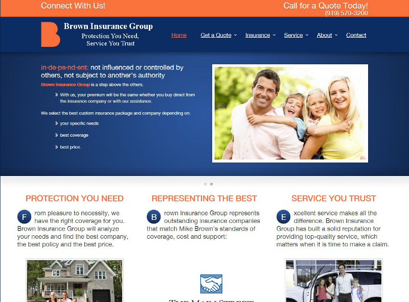 browninsurancenc.com website