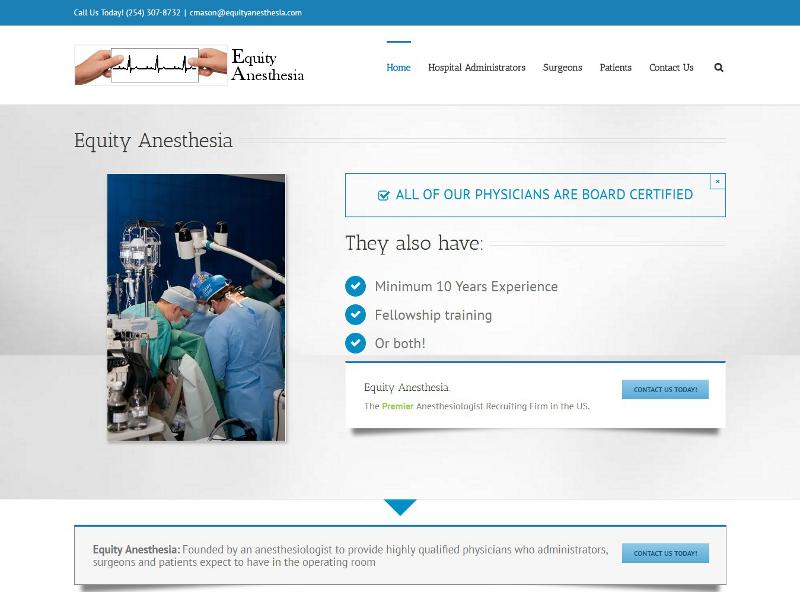 equityanesthesia.com website