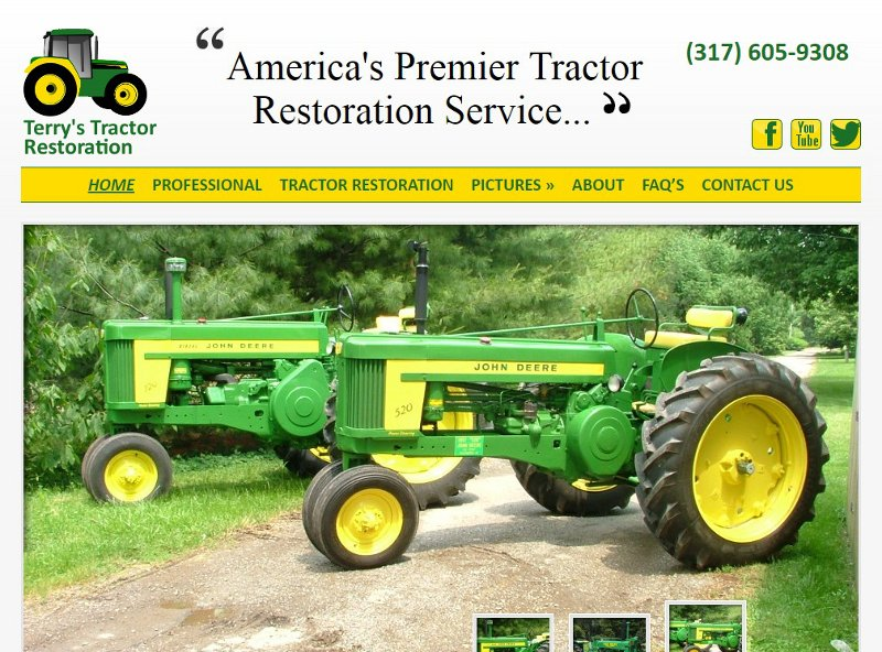 terrystractorrestoration.com website