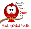 barking bird media web design logo
