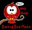 barking bird media web design logo