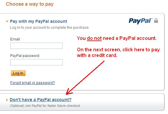 Pay with a PayPal account3